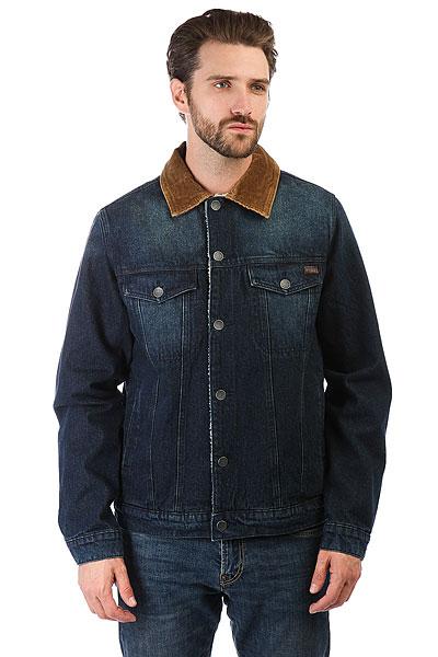 Куртка джинсовая Billabong Barlow Trucker Indigo Deep SeaКлассическая куртка с современным комфортом дополненная теплой подкладкой из шерпы. Коллекция Surfplus.Технические характеристики: Материал - деним.Подкладка из шерпы.Нагрудные карманы, карманы для рук и потайной карман.Застежка на пуговицы.<br><br>Цвет: синий<br>Тип: Куртка джинсовая<br>Возраст: Взрослый<br>Пол: Мужской