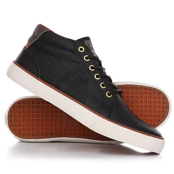 Кеды кроссовки высокие DC Council Mid Black dc shoes кеды dc council black cream 8 5