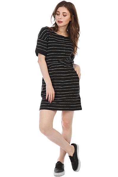 Платье женское Roxy Feel It All Anthracite Pencil St<br><br>Цвет: черный,белый<br>Тип: Платье<br>Возраст: Взрослый<br>Пол: Женский