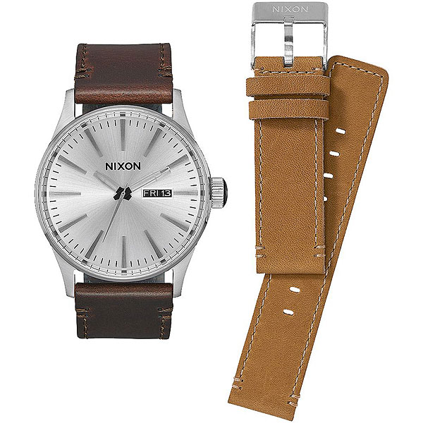 Кварцевые часы Nixon Sentry Pack White/Brown/Tan часы nixon corporal ss all black