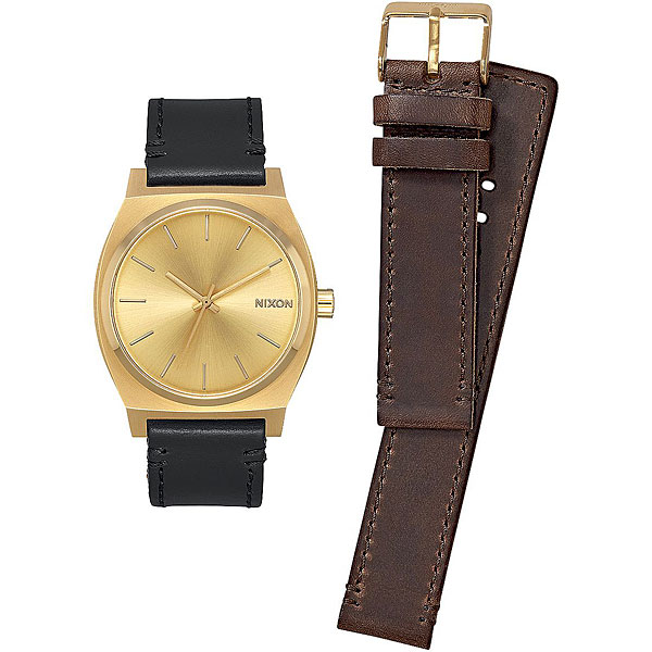 Кварцевые часы Nixon Time Teller Pack Gold/Black/Brown