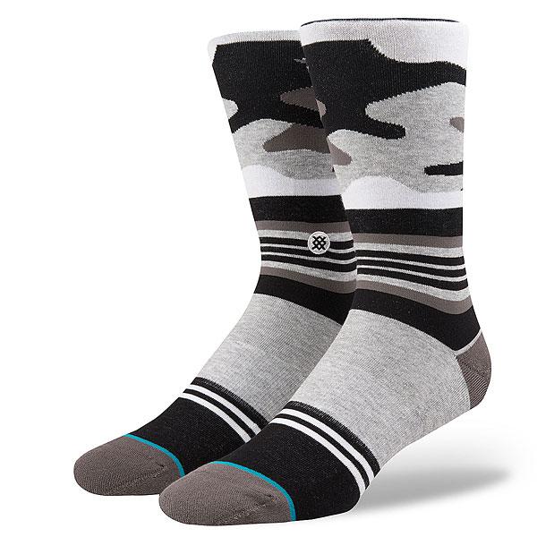 Носки высокие Stance Squad Harden Camo Grey<br><br>Цвет: серый,черный<br>Тип: Носки высокие<br>Возраст: Взрослый<br>Пол: Мужской