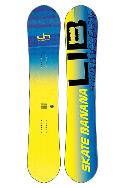 Сноуборд Lib Tech SK8 BANANA YellowСозданный для побед сноуборд Skate Banana, на котором легко кататься и получить максимальную производительность. Летит, как стрела, и плавно плывет по снегу! Графика от Mike Parillo.Технические характеристики: Форма  True Twin.Прогиб Original Banana - рокер в центре и средний кэмбер по краям.Технология MAGNE-TRACTION® - сноуборд отлично ведет себя на жестком снегу и на льду.Сердечник из разных сортов дерева ASPEN/COLUMBIAN GOLD.Комбинированное стекловолокно TRI-AX/BI-AX.Верхний слой Eco Sub POLY TOP.Скоростной скользяк TNT.Боковины, нос и хвост из высокомолекулярного материала UHMW.Внутренние боковины из березы (Birch Internal Sidewalls).<br><br>Цвет: желтый<br>Тип: Сноуборд<br>Возраст: Взрослый<br>Пол: Мужской