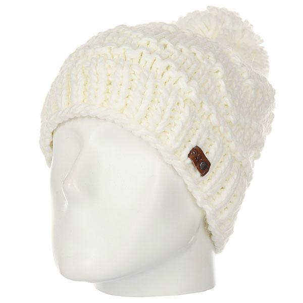 Шапка женская Roxy Winter Beanie Bright White<br><br>Цвет: белый<br>Тип: Шапка<br>Возраст: Взрослый<br>Пол: Женский