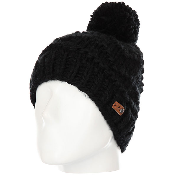 Шапка женская Roxy Winter Beanie True Black roxy гейтор roxy lana true black fw17