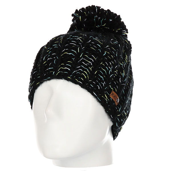 Шапка женская Roxy Nola Beanie True Black roxy гейтор roxy winter true black fw17