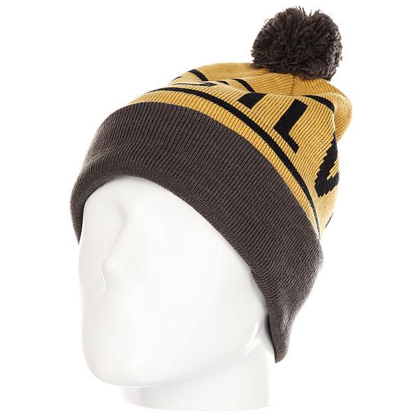 Шапка Quiksilver Summit Beanie Mustard Gold<br><br>Цвет: серый,коричневый<br>Тип: Шапка<br>Возраст: Взрослый<br>Пол: Мужской