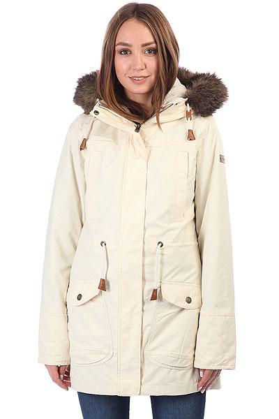 Куртка парка женская Roxy Amy 3n1 AngoraС этой стильной и удобной паркой от Roxy холодная погода уже не кажется таким уж большим минусом. Длинная, теплая и комфортная, она поможет Вам пережить капризы погоды намного проще, чем раньше. Объемный капюшон с оторочкой из искусственного меха, несколько карманов, мембранная ткань, не пропускающая влагу внутрь и быстро выводящая ее наружу, подкладка из флиса шерпа и утеплитель Warmflight® - она со всех сторон готова к морозу!Характеристики:Классический крой. Мембрана ROXY DryFlight® 10K. Материал: синтетическая саржа. Внешний шелл в сочетании с мягкой подкладкой из шамбре. Утеплитель: Warmflight® (60 г). Подкладка из шерпы.Объемный капюшон со шнурком-утяжкой и съемной оторочкой из искусственного меха. Два кармана для рук. Два нагрудных кармана. Регулировка талии.Скругленная линия подола.<br><br>Цвет: бежевый<br>Тип: Куртка парка<br>Возраст: Взрослый<br>Пол: Женский