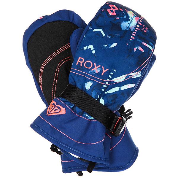 Варежки сноубордические детские Roxy Jett Gir Mitt Sodalite Blue haveli варежки женские roxy victoria mitt hawaian ocean