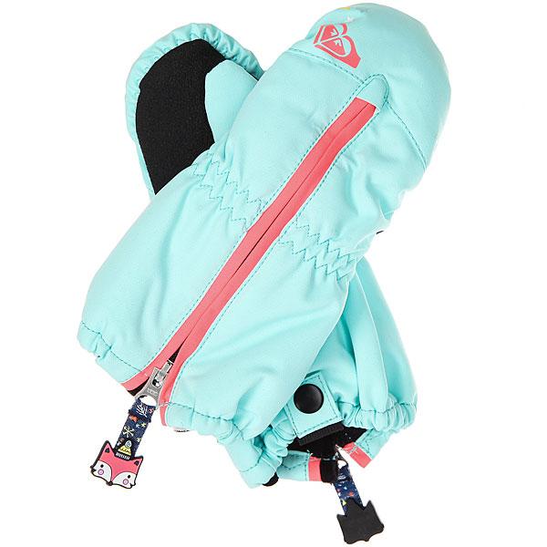 Варежки сноубордические детские Roxy Snows Up Mitt Aruba Blue варежки сноубордические детские roxy jett gir mitt bright white hackney