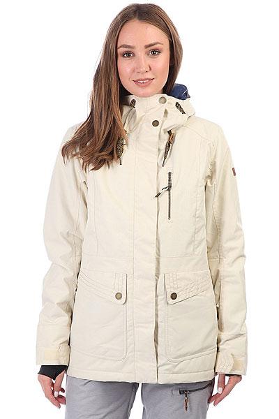Куртка утепленная женская Roxy Andie AngoraФункциональная куртка для катания от Roxy готова к любым погодным неожиданностям, ведь в ней предусмотрено все, чтобы Вы оставались в тепле и комфорте. Современный утеплитель Thinsulate™, распределенный по всей куртке, мембранная ткань, отводящая лишнюю влагу с Вашего тела, проклеенные швы и юбка для защиты от снега. А еще множество карманов, вентиляция с сетчатыми вставками, регулируемые манжеты и объемные капюшон. Наверняка, Вы давно хотели что-то подобное, так что Roxy в очередной раз идет навстречу Вашим пожеланиям. Характеристики:Приталенный крой. Мембрана ROXY DryFlight® 10K. Материал: синтетика из переработанного полиэстера. Утеплитель: наполнитель Thinsulate™ Type M 80 г (тело) + 40 г (рукава и капюшон). Подкладка: легкая тафта из переработанного полиэстера + фактурная тафта и трикотаж с начесом. Проклеенные в стратегических местах швы. Объемный капюшон со шнурком-утяжкой. Юбка для защиты от снега. Система пристегивания куртки к штанам. Два кармана для рук.Нагрудный карман с доступом на молнии. Карман на рукаве для ски-паса. Карман для маски. Вентиляция с сетчатыми вставками подмышками. Гейтеры из лайкры с отверстиями для больших пальцев. Регулируемые манжеты. Карабин для ключей.Кожаная нашивка с логотипом на левом рукаве.<br><br>Цвет: бежевый<br>Тип: Куртка утепленная<br>Возраст: Взрослый<br>Пол: Женский