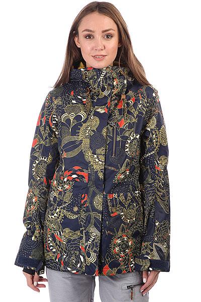 Куртка утепленная Roxy Andie Peacoat_hackney EmpiФункциональная куртка для катания от Roxy готова к любым погодным неожиданностям, ведь в ней предусмотрено все, чтобы Вы оставались в тепле и комфорте. Современный утеплитель Thinsulate™, распределенный по всей куртке, мембранная ткань, отводящая лишнюю влагу с Вашего тела, проклеенные швы и юбка для защиты от снега. А еще множество карманов, вентиляция с сетчатыми вставками, регулируемые манжеты и объемные капюшон. Наверняка, Вы давно хотели что-то подобное, так что Roxy в очередной раз идет навстречу Вашим пожеланиям. Характеристики:Приталенный крой. Мембрана ROXY DryFlight® 10K. Материал: синтетика из переработанного полиэстера. Утеплитель: наполнитель Thinsulate™ Type M 80 г (тело) + 40 г (рукава и капюшон). Подкладка: легкая тафта из переработанного полиэстера + фактурная тафта и трикотаж с начесом. Проклеенные в стратегических местах швы. Объемный капюшон со шнурком-утяжкой. Юбка для защиты от снега. Система пристегивания куртки к штанам. Два кармана для рук.Нагрудный карман с доступом на молнии. Карман на рукаве для ски-паса. Карман для маски. Вентиляция с сетчатыми вставками подмышками. Гейтеры из лайкры с отверстиями для больших пальцев. Регулируемые манжеты. Карабин для ключей.Кожаная нашивка с логотипом на левом рукаве.<br><br>Цвет: синий,мультиколор<br>Тип: Куртка утепленная<br>Возраст: Взрослый<br>Пол: Женский