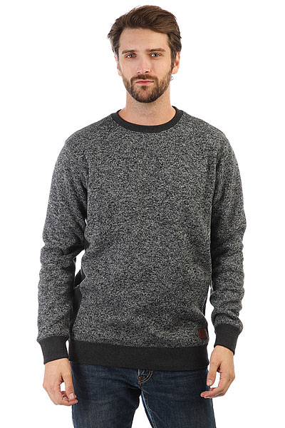 Толстовка классическая Quiksilver Dark Grey Heather Kellercrew толстовка element filbert grey heather