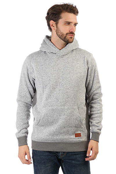 Толстовка кенгуру Quiksilver Kellerhood Light Grey Heather толстовка кенгуру quiksilver keller hood wild ginger