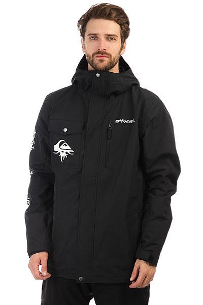 Quiksilver Mission Art BlackНадежная и удобная куртка-шелл от Quiksilver позволит Вам самостоятельно выбирать вариант утепления за счет второго слоя, а это значит, что Вы всегда будете в сухости и тепле, вне зависимости от того, какая на улице погода. Классический крой, обилие карманов, крупный принт на спине, все необходимые опции и классический черный цвет, идеально сочетающийся с любыми другими - в Quiksilver Mission Placed Вы сможете с комфортом провести не один насыщенный сезон. Характеристики:Классический крой. Мембрана 10K Quiksilver DryFlight®.Материал: полиэстер простого плетения.Проклеенные в стратегических местах швы. Подкладка из тафты и трикотажа с начесом. Контурный капюшон с системой регулировки. Юбка для защиты от снега.Система пристегивания куртки к штанам. Вентиляция подмышками с сетчатыми вставками. Два кармана для рук. Два нагрудных кармана. Карман для ски-паса на рукаве. Регулируемые манжеты. Карабин для ключей. Карман для маски. Принт с логотипом на груди. Принт на спине.<br><br>Цвет: черный<br>Тип: Куртка утепленная<br>Возраст: Взрослый<br>Пол: Мужской