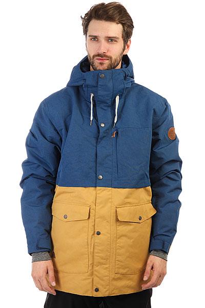 Куртка утепленная Quiksilver Horizon Estate BlueКоллекция NEW WAVE: горных технологии в сочетании с серфовым стилем. Когда морская волна разбивается о горные хребты, рождаются новые волны, и коллекция New Wave посвящена именно этому. Самые прогрессивные фасоны и крутые принты, солнечный серфовый характер и новейшие текстильные технологии — все это вместе превращается новый уровень катальной экипировки для райдеров нового поколения. Для вас, скорее всего! Характеристики:Нейлоновая саржа. Утеплитель 3M® Thinsulate® Type M (40 г). Подкладка из тафты и шамбре со вставками из трикотажа с начесом. Полностью проклеенные швы. Сеточные вставки подмышками для вентиляции. Система пристегивания куртки к штанам. Медиакарман. Внутренний карман для маски. Ткань для протирки фильтра маски внутри одного из карманов.Съемная противоснежная юбка из тафты с добавлением лайкры.Брелок для ключей.<br><br>Цвет: синий,бежевый<br>Тип: Куртка утепленная<br>Возраст: Взрослый<br>Пол: Мужской