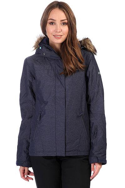 куртка женская roxy jet ski цвет синий erjtj03124 bfk9 размер s 42 Куртка утепленная женская Roxy Jet Ski Sol Peacoat