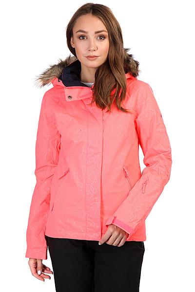 Куртка утепленная женская Roxy Jet Ski Sol Neon Grapefruit_ganaКороткая и стильная, яркая и теплая - это Roxy Jet Ski, в которой Вам будет удобно как на склоне, так и на улицах города. Зауженный крой не стесняет движений и при этом отлично смотрится, мембранная ткань быстро отводит лишнюю влагу, и не пускает ее снаружи, легкий современный утеплитель Warmflight® не позволит холоду застать Вас врасплох, а юбка для защиты от снега и объемный отстегивающийся капюшон с меховой оторочкой (а также масса других дополнительных опций) сделают Вашу жизнь зимой еще позитивнее.Характеристики:Зауженный крой Slim. Мембрана: водостойкая 10K ROXY DryFlight. Материал: саржа из полиэстера. Подкладка из тафты и со вставками из трикотажа с начесом. Утеплитель: наполнитель Warmflight® (тело — 120 г, рукава — 100 г, капюшон — 60 г). Мягкая защита подбородка. Объемный отсегивающийся капюшон с тремя вариантами регулировки и съемной оторочкой из искусственного меха. Проклеенные в критических местах швы. Юбка для защиты от снега.Карабин для ключей. Система пристегивания штанов к куртке. Застегивается на молнию по всей длине. Два кармана для рук с доступом на молнии. Внутренний медиа-карман. Сетчатый карман для маски. Карман на рукаве для ски-паса. Регулируемые манжеты. Вентиляция подмышками. Гейтеры из лайкры + небольшая удобная вставка в манжете.<br><br>Цвет: розовый<br>Тип: Куртка утепленная<br>Возраст: Взрослый<br>Пол: Женский