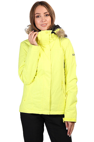 купить Куртка утепленная женская Roxy Jet Ski Sol Lemon Tonic_gana Emb дешево