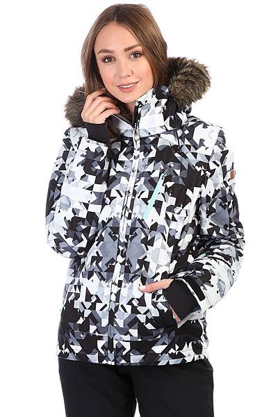 где купить Куртка утепленная женская Roxy Jet Ski Prem Bright White_geodeco по лучшей цене