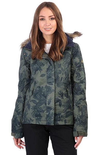куртка женская roxy jet ski цвет синий erjtj03124 bfk9 размер s 42 Куртка утепленная женская Roxy Jet Ski Dusty Ivy_sylvan