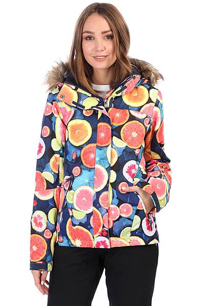 куртка женская roxy jet ski цвет синий erjtj03124 bfk9 размер s 42 Куртка утепленная женская Roxy Jet Ski Lemon Tonic_fruitsof