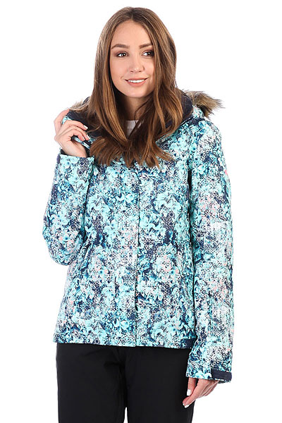 куртка женская roxy jet ski цвет синий erjtj03124 bfk9 размер s 42 Куртка утепленная женская Roxy Jet Ski Aruba Blue_kaleidos
