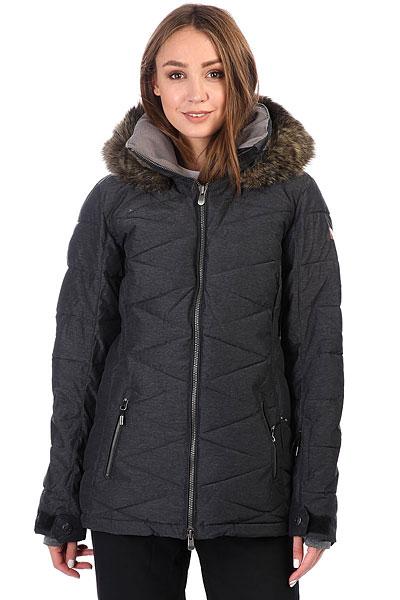 Куртка утепленная женская Roxy Quinn True Black<br><br>Цвет: Темно-серый<br>Тип: Куртка утепленная<br>Возраст: Взрослый<br>Пол: Женский