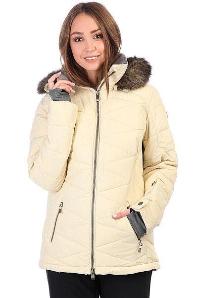 Куртка утепленная женская Roxy Quinn Angora<br><br>Цвет: бежевый<br>Тип: Куртка утепленная<br>Возраст: Взрослый<br>Пол: Женский