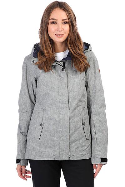 куртка женская roxy billie цвет бирюзовый erjtj03121 bfk0 размер s 42 Куртка утепленная женская Roxy Billie Heritage Heather