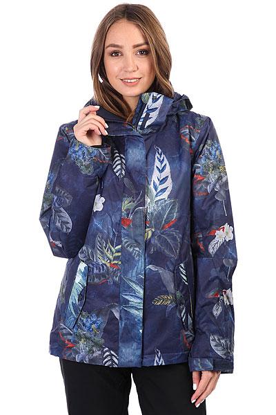 Куртка утепленная женская Roxy Rx Jetty Peacoat_orissa Flora<br><br>Цвет: синий,мультиколор<br>Тип: Куртка утепленная<br>Возраст: Взрослый<br>Пол: Женский