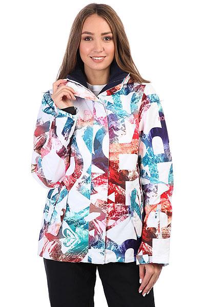 Куртка утепленная женская Roxy Rx Jetty Bright White_mountaiСноубордическая куртка ROXY Jetty с водостойкой мембраной 10K ROXY DryFlight®.Технические характеристики: Водостойкая мембрана 10K ROXY DryFlight®.Саржа из полиэстера.Классический крой.Утеплитель Warmflight® (тело — 120 г, рукава — 100 г, капюшон — 60 г).Подкладка из тафты со вставками из трикотажа с начесом.Мягкая защита подбородка.Карабин для ключей.Все основные швы проклеены.Капюшон с тремя регулировками.Фиксированная снежная юбка из тафты.Крепление куртки к брюкам.Карманы для рук, скипасса, медиа карман и карман для маски.Вентиляционные молнии с подкладкой из сетки.Внутренние манжеты из лайкры.Внешние манжеты на липучках.Застежка на молнию с ветрозащитным клапаном на липучках.<br><br>Цвет: мультиколор<br>Тип: Куртка утепленная<br>Возраст: Взрослый<br>Пол: Женский