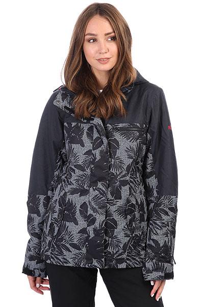 Куртка утепленная женская Roxy Rx Jetty Blo True Black_floralСноубордическая куртка Jetty из новой коллекции ROXY.Технические характеристики: Водостойкая мембрана 10K ROXY DryFlight®.Саржа из полиэстера.Классический крой.Утеплитель Warmflight® (тело — 120 г, рукава — 100 г, капюшон — 60 г).Подкладка из тафты со вставками из трикотажа с начесом.Мягкая защита подбородка.Карабин для ключей.Все основные швы проклеены.Капюшон с тремя регулировками.Фиксированная снежная юбка из тафты.Крепление куртки к брюкам.Нагрудный карман, карманы для рук, карман для скипасса, медиа карман и карман для маски.Вентиляционные молнии с подкладкой из сетки.Внутренние манжеты из лайкры.Внешние манжеты на липучках.Застежка на молнию с ветрозащитным клапаном на липучках.<br><br>Цвет: черный,белый<br>Тип: Куртка утепленная<br>Возраст: Взрослый<br>Пол: Женский