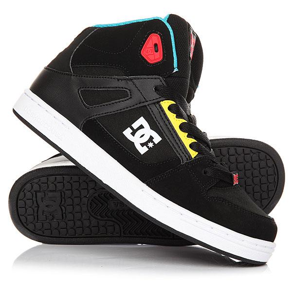 Кеды кроссовки высокие детские DC Shoes Rebound Black/MultiВысокие детские кеды изкожи невероятно удобные и прочные. Хорошая вентиляция, цепкая подошва с фирменным рисунком протектора Pill Pattern, усиленный для износостойкости нос, язычок и лодыжка из вспененного материала для мягкой и надежной фиксации ноги. Ваш ребенок будет в восторге от них!Характеристики:Усиленный износостойкий нос. Язычок и лодыжка из вспененного материала. Перфорация для вентиляции. Мягкие люверсы из термополиуретана. Подошва с фирменным рисунком протектора.<br><br>Цвет: черный,мультиколор<br>Тип: Кеды высокие<br>Возраст: Детский