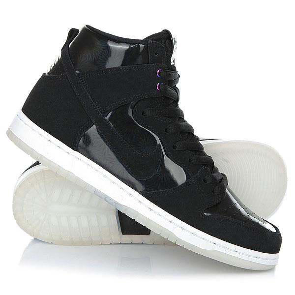 Кеды кроссовки высокие Nike Sb Zoom Dunk High Pro Black nike sb кеды nike sb zoom dunk low pro черный бледно зеленый белый 9 5
