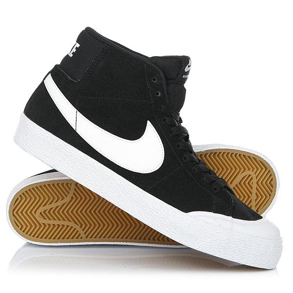 Кеды кроссовки высокие Nike Sb Blazer Zoom Mid Xt Black/White nike sb кеды nike sb zoom stefan janoski leather черный антрацитовый черный 12