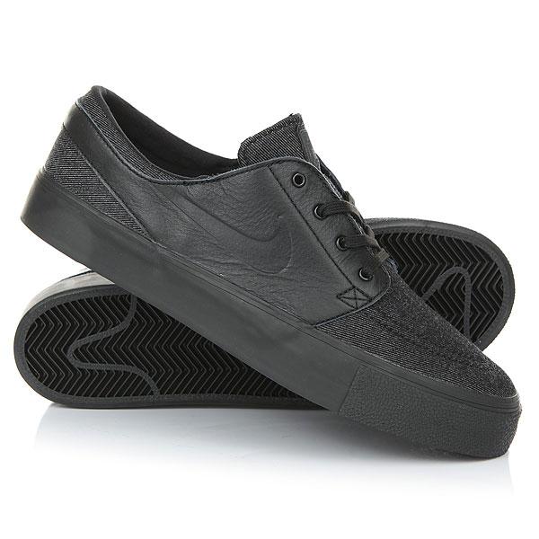 Кеды кроссовки низкие Nike Zoom Stefan Janoski Elite HT BlackМужская обувь для скейтбординга Nike SB Air Zoom Stefan Janoski Elite HT в классическом непринужденном стиле обеспечивает мгновенную амортизацию и надежное сцепление.Технические характеристики: Верх из кожи и текстиля для прочности и комфорта.Стелька со вставкой Nike Zoom Air для мгновенной амортизации.Резиновая подошва с зигзагообразным рисунком для гибкости и уверенного сцепления с доской.<br><br>Цвет: черный<br>Тип: Кеды низкие<br>Возраст: Взрослый<br>Пол: Мужской
