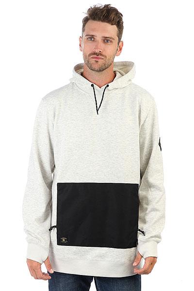 Толстовка сноубордическая DC Cloak Silver Birch<br><br>Цвет: серый<br>Тип: Толстовка сноубордическая<br>Возраст: Взрослый<br>Пол: Мужской