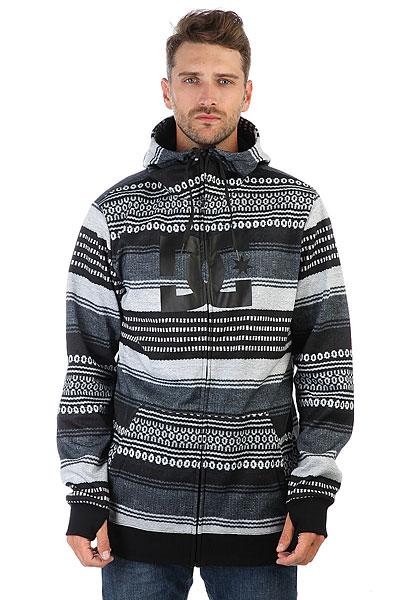 Толстовка сноубордическая DC Snowstar Fz Poncho Stripe Gs<br><br>Цвет: черный,серый<br>Тип: Толстовка сноубордическая<br>Возраст: Взрослый<br>Пол: Мужской