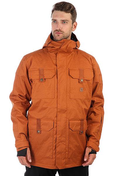 Куртка утепленная DC Servo Leather Brown куртки dc shoes куртка