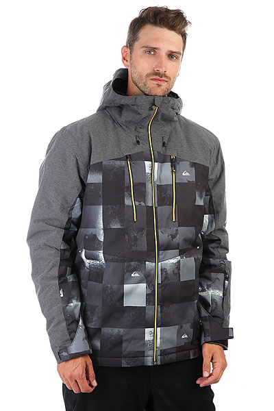 Куртка утепленная Quiksilver Mission Plus Bw Icey Check lucky john croco spoon big game mission 24гр 004