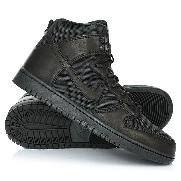 Ботинки высокие Nike Sb Zoom Dunk H Pro Bota Black nike sb кеды nike sb zoom stefan janoski leather черный антрацитовый черный 12