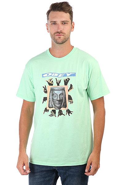 Футболка Obey Artifacts Mint<br><br>Цвет: зеленый<br>Тип: Футболка<br>Возраст: Взрослый<br>Пол: Мужской