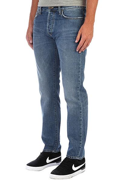Джинсы узкие Carhartt WIP Klondike Pant Blue mustang джинсы