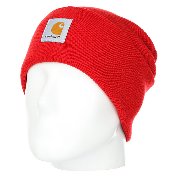 Шапка Carhartt WIP Watch Hat Chilli<br><br>Цвет: красный<br>Тип: Шапка<br>Возраст: Взрослый<br>Пол: Мужской