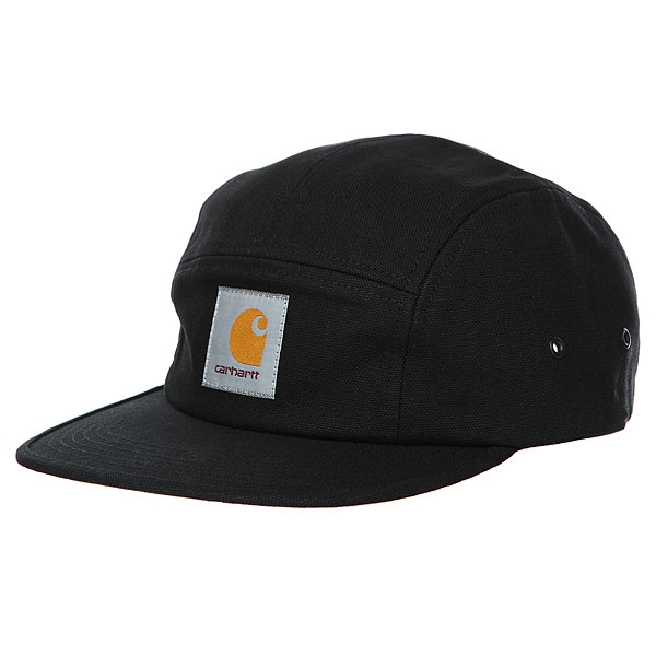 Бейсболка пятипанелька Carhartt WIP Backley Cap Black<br><br>Цвет: черный<br>Тип: Бейсболка пятипанелька<br>Возраст: Взрослый<br>Пол: Мужской