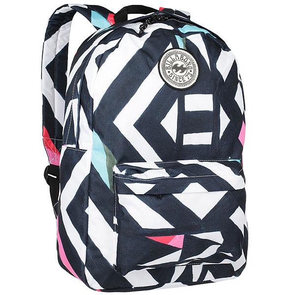 Рюкзак городской женский Billabong All Day Black/WhiteПрактичный рюкзак, который станет Вашим верным спутником в городских прогулках. Его объем позволит вместить множество вещей, необходимых в течение дня, а внешний карман поможет держать самые нужные мелочи в быстром доступе. Высококачественный материал гарантирует долговечность и сохранение свежего внешнего вида, а оригинальные цветовые решения делают этот рюкзак ещё и прекрасным дополнением Вашего образа.Характеристики:Вместительное основное отделение. Внешний карман на молнии. Регулируемые эргономичные лямки. Мягкая спинка. Удобная петля для переноски. Нашивка с фирменным логотипом Billabong.<br><br>Цвет: черный,белый<br>Тип: Рюкзак городской<br>Возраст: Взрослый<br>Пол: Женский
