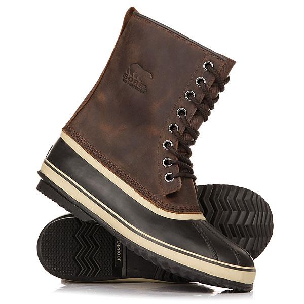 Ботинки зимние Sorel 1964 Premium TobaccoМужские ботинки Sorel 1964 Premium T имеют водонепроницаемую конструкцию из кожи класса премиум и утепленного шерстяного внутренника. Идеальная обувь для пребывания в сильные морозы на заснеженных территориях.Характеристики:Герметичная водонепроницаемая конструкция. Верх: натуральная кожа. Утеплитель: съемный моющийся 9-миллиметровыйвойлочный внутренник. Слой из 2,5 мм морозостойкой пробки в подошве. Вулканизированная водонепроницаемая оболочка. Подошва из каучука с протектором-«елочкой». Температурный режим: до -40°С.<br><br>Цвет: Темно-коричневый<br>Тип: Ботинки зимние<br>Возраст: Взрослый<br>Пол: Мужской