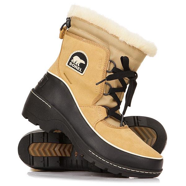 Ботинки зимние женские Sorel Tivoli Curry BlackБотинки Sorel Tivoliвыдержаны в стиле спорт-шик, идеально подходят для зимних ненастных дней. Изготовлены из водонепроницаемой замши и плотного дышащего текстиля с мембраной. Теплоизоляция из микрофлиса 100г позволит сохранить ноги в тепле в самые холодные морозы. Благодаря надежному протектору эти ботинки не скользят.Характеристики:Верх: водонепроницаемая замша и текстиль. Водонепроницаемая дышащая мембранная конструкция. Оторочка из искусственного меха. Регулируемая утяжка с фиксатором. Подкладка из микрофлиса 100г. Съемная стелькаOrhtolite™из пены EVA с покрытием из микрофлиса.Контрастная прошивка подошвы. Фирменный логотип сбоку и на пятке.Подошва изформованной резины для отличной стабильности и сцепления.<br><br>Цвет: бежевый,черный<br>Тип: Ботинки зимние<br>Возраст: Взрослый<br>Пол: Женский
