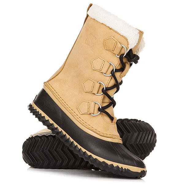 Ботинки зимние женские Sorel Caribou Slim Curry BlackПрактичные ботинки Sorel Caribou Slim - верхняя часть изготовлена из нубука, подкладка из микрофлиса обеспечивает хорошую термоизоляцию. Модель оснащена водонепроницаемой технологией.Отлично подходит для зимних дней.Характеристики:Верх: водонепроницаемый нубук.Подкладка из микрофлиса 100г. Отделка из искусственного меха. Покрытие наружного сапожка из вулканизированной водонепроницаемой резины. Подошва EVA устойчива к скольжению. Эластичная шнуровка.<br><br>Цвет: бежевый,черный<br>Тип: Ботинки зимние<br>Возраст: Взрослый<br>Пол: Женский